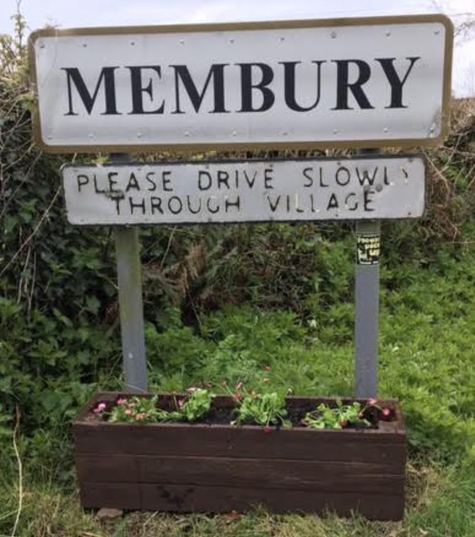 Membury sign